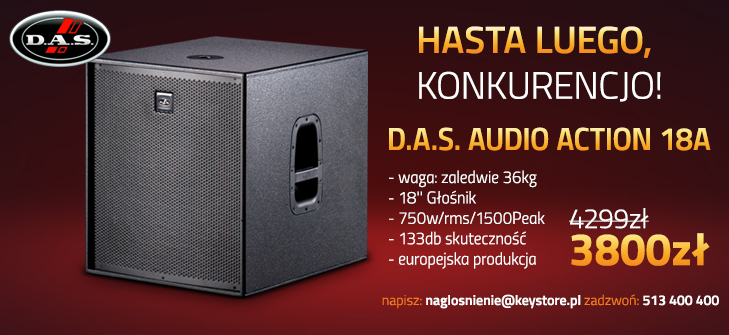 D.A.S. Action 18a - promocja w KEY STORE