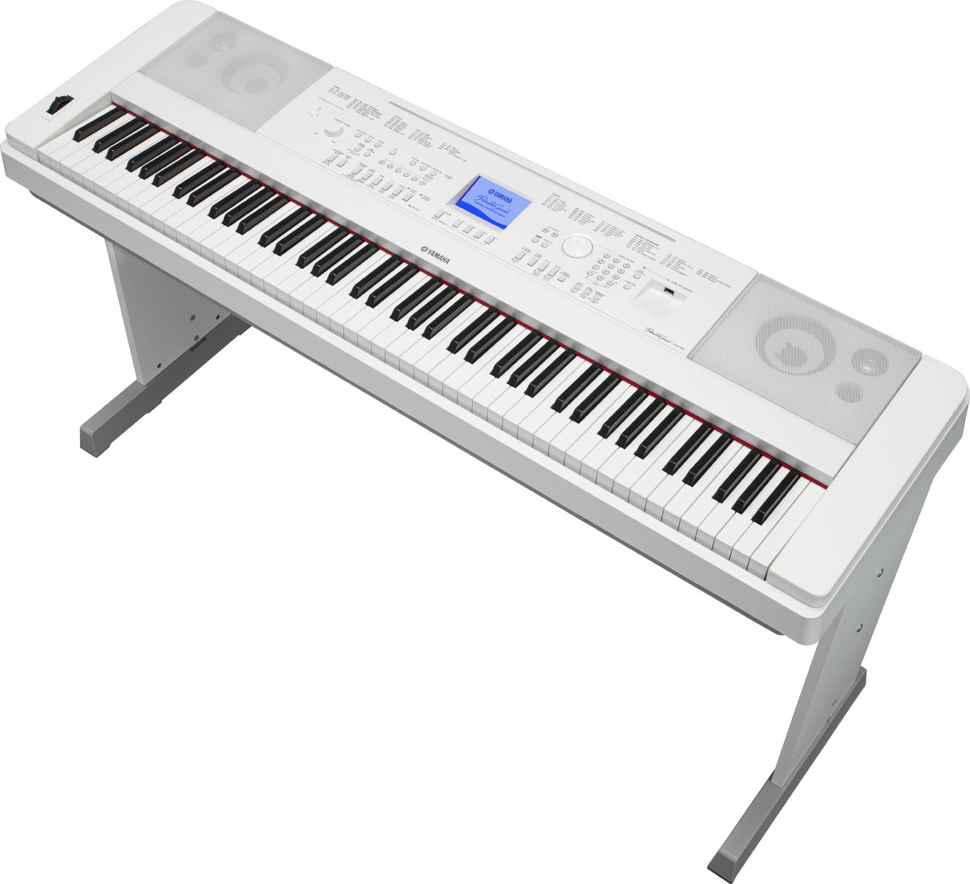 Pianina stacjonarne yamaha dgx 660 wh yamaha for Yamaha 660 keyboard